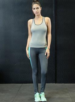 Sleeveless Sport Tanks & Slim Quick-dry Pants