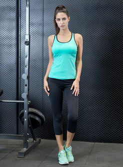 Stylish Slim Sleeveless Yoga Tracksuit