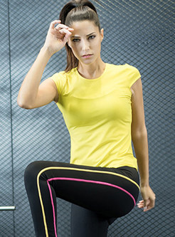 Pure Color Short Sleeve Sport Top