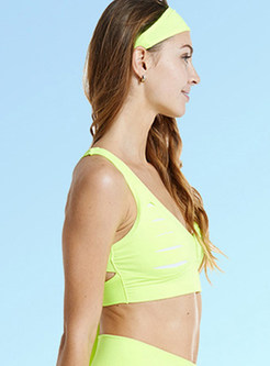 d0c41ad61902c ... Hollow Out V-neck Sport Bra Without Wire Ring ...