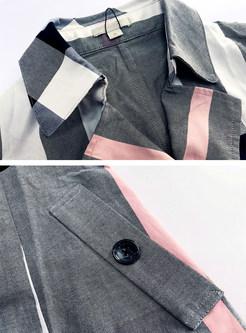 Chic Plaid Short Sleeve Cotton Dress