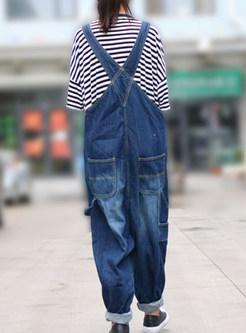 Oversize Denim Jumpsuit