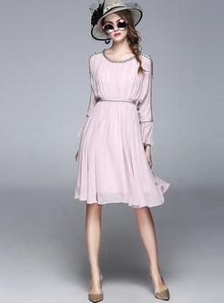 Sweet Off The Shoulder Chiffon Dress
