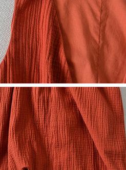 High Neck Top & V-neck Sleeveless Dress Suits