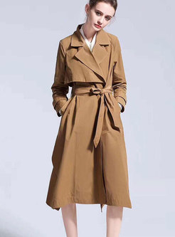 OL Notched Self-Tie Trench Coat