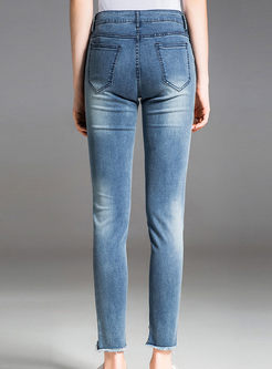 Brief Slim Rough Selvedge Pencil Pants