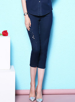 Chic Hollow Out Plus Size Jeans