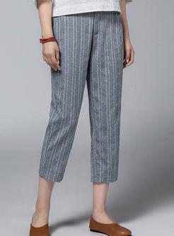 High Waist Striped Harem Pants