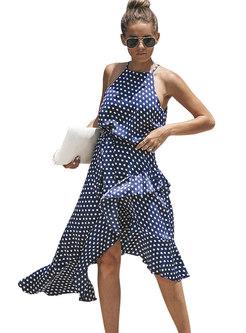 Sexy Flouncing Off Shoulder Irregular Dress