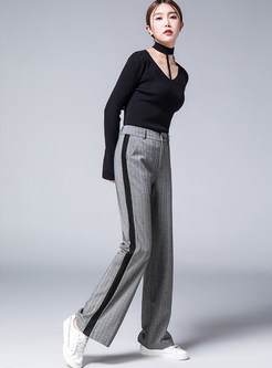 Vintage Casual Pocket Straight Loose Pants