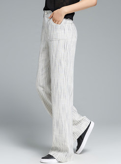 Casual Straight Wide Leg Long Pants