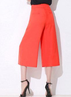 OL High Waist Monochrome Wide Leg Pants