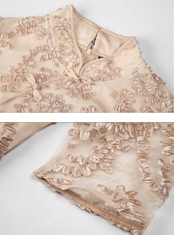 Vintage Mandarin Collar Improved Cheongsam Dress