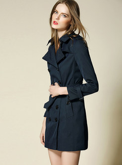 Brief Lapel Waist Slim Trench Coat