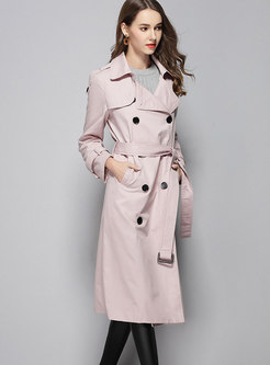 Turn-down Collar Slim Cotton Trench Coat