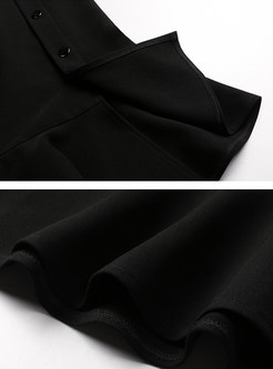 Stylish Black High Waist Mermaid Bodycon Skirt
