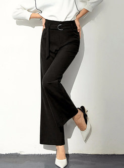 Casual Loose High Waist Flare Wide Leg Pants