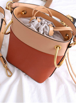 Chic Embroidered Drawstring Top Handle & Crossbody Bag