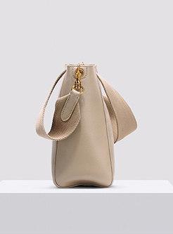 Brief Apricot Monochrome Tote Bucket Bag