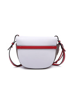 Trendy Color-Blocked Bowknot Crossbody Bag
