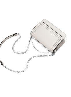 Brief Rivet Chain Top Handle & Crossbody Bag