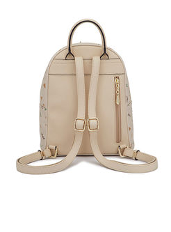 Chic Splicing Zipper Top Handle & Backpack