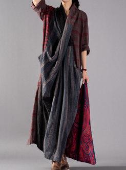 Fashion Cross V-neck Front Chest Irregular Maxi Dress
