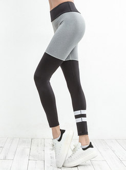 Stylish Tight Color-blocked Yoga Bottoms