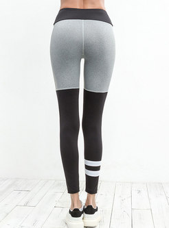 Stylish Tight Color-blocked Yoga Bottoms