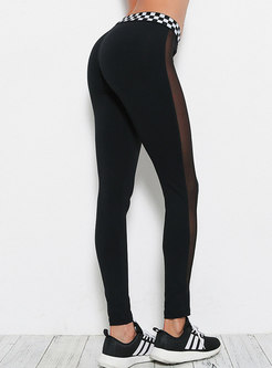 Chic Mesh Splicing Tight Yoga Bottoms