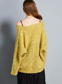 Solid Color Plus Size Loose Long Sleeve Pullover Sweater