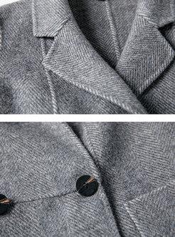 PLiad Turn Down Collar Slim Long Coat