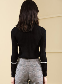 Casual Turtle Neck Long Sleeve Sweater
