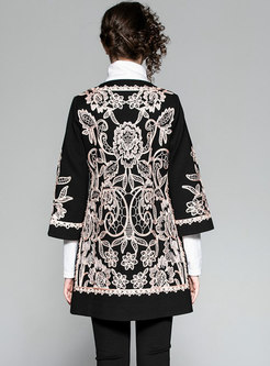 Trendy Stylish Stereoscopic Embroidery Trench Coat