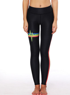 Stylish Striped Splicing Slim Sport Pants