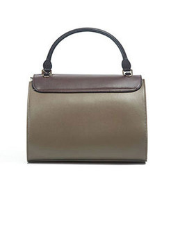 Chic Color-blocked Top Handle & Crossbody Bag