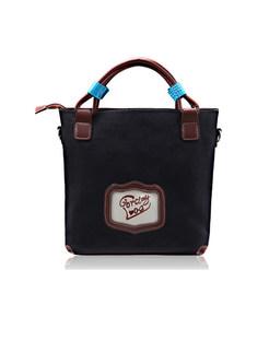 Vintage Print Embroidered Top Handle & Crossbody Bag