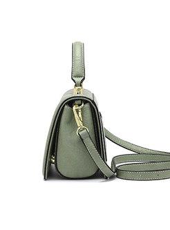 Trendy Heart Lock Zipper Top Handle & Crossbody Bag