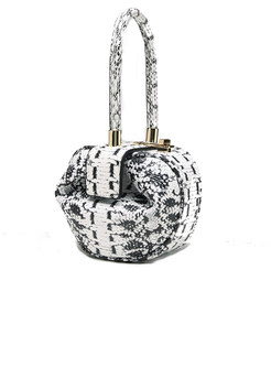 Chic Monochrome Leopard Satchel Bag