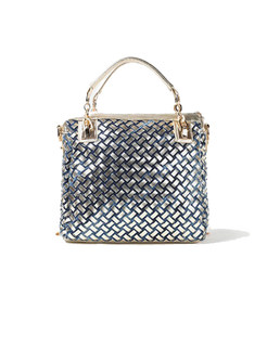 Chic Drilling Geometric Pattern Top Handle Bag
