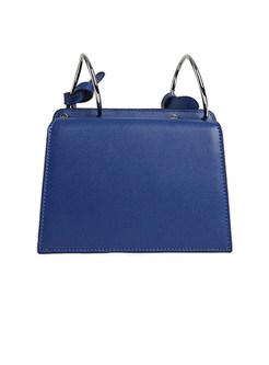 Stylish Ring White-blue Blocked Magnetic Tote & Crossbody Bag
