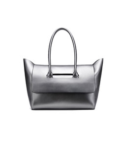 Brief Genuine Leather Tote Bag