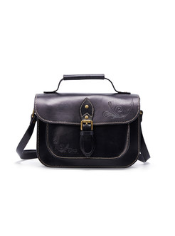 Chic Artificial Grain Crossbody Bag