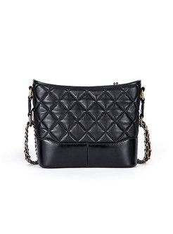 Casual Color-blocked Chain Crossbody Bag