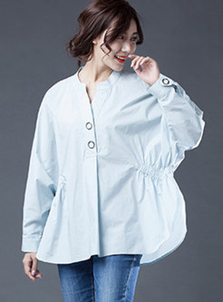 Stylish Loose Batwing Sleeve Blouse