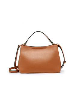 Brief Cowhide Crossbody & Top Handle Bag