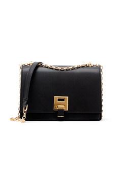 Brief Clasp Lock Crossbody Bag