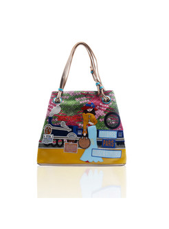 Casual Girl Embroidery Top Handle Bag