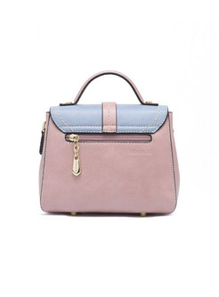 Chic Color-block Magnetic Top Handle & Crossbody Bag