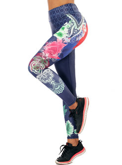 Stylish Print High Waist Yoga Fitness Pants